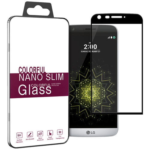 3D Curved Fit Tempered Glass Screen Protector for LG G5 - Black